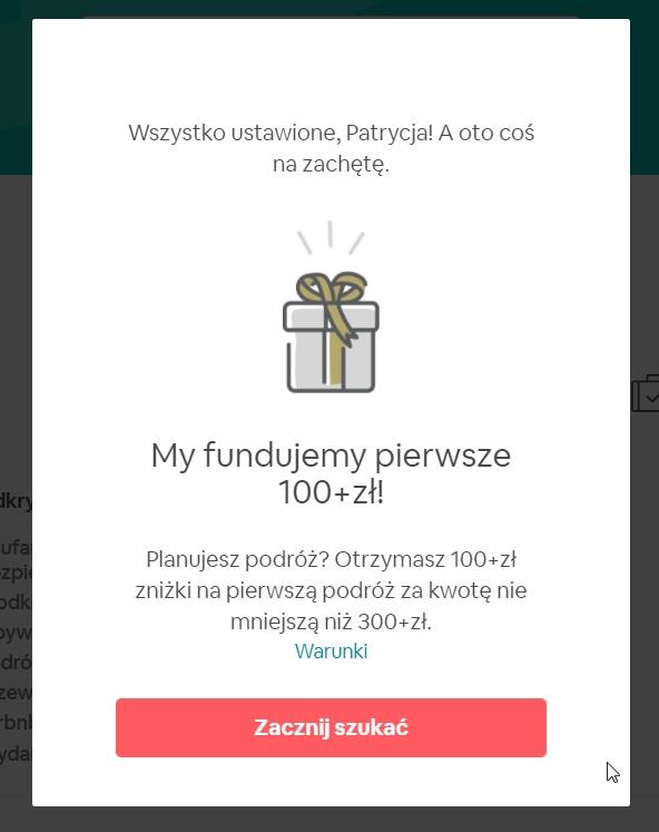 zniżka airbnb 100 zł