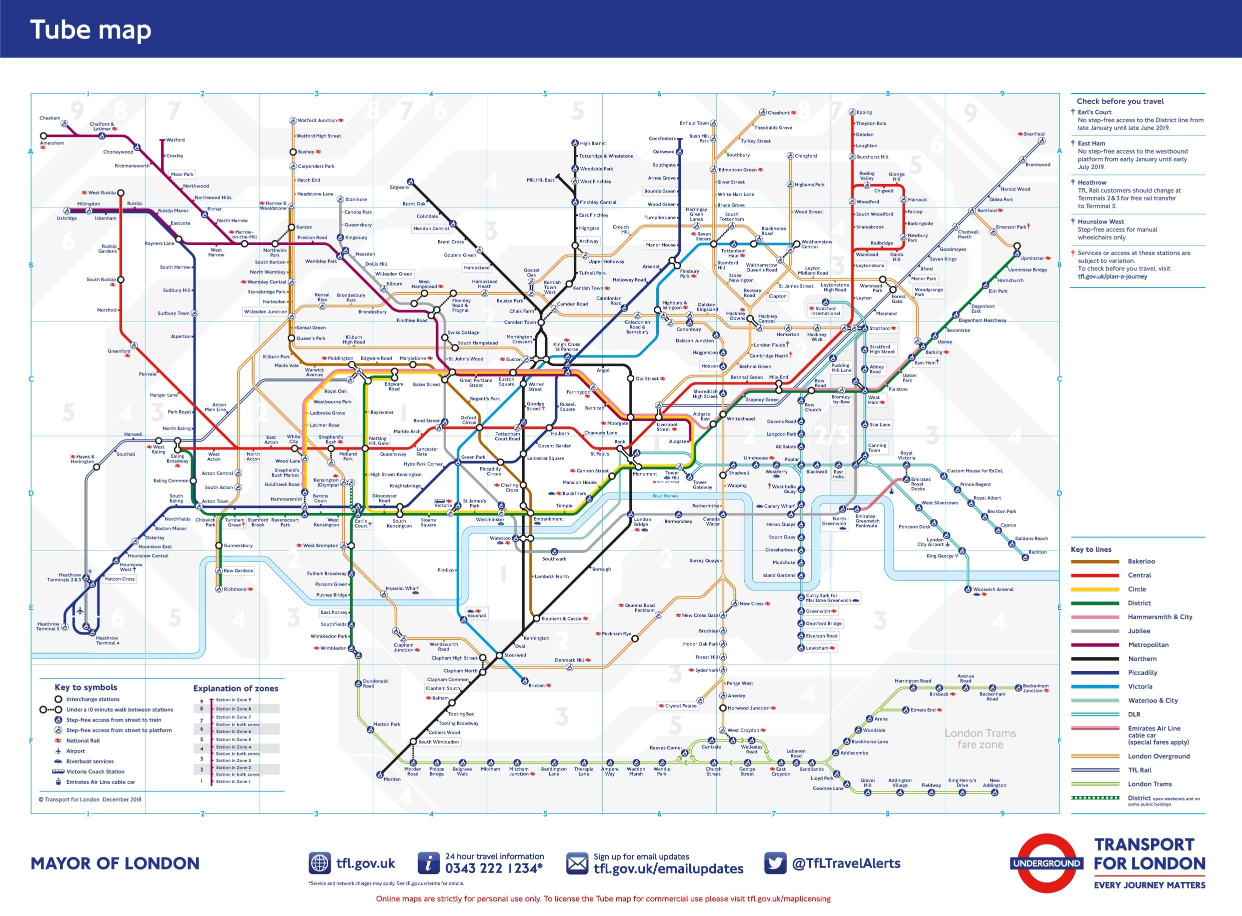 Metro Londyn Mapa Ceny Wskazowki Male Wojaze Blog Podrozniczy